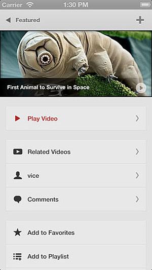 YouTube-клиент для iPhone