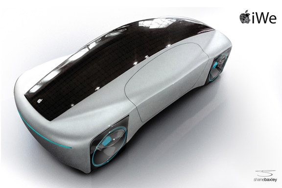 Концепт яблочного электромобиля iGo