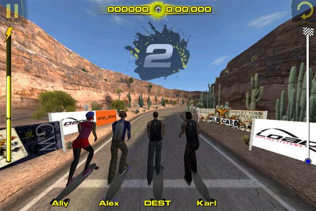 Экстремальные гонки для iPod touch