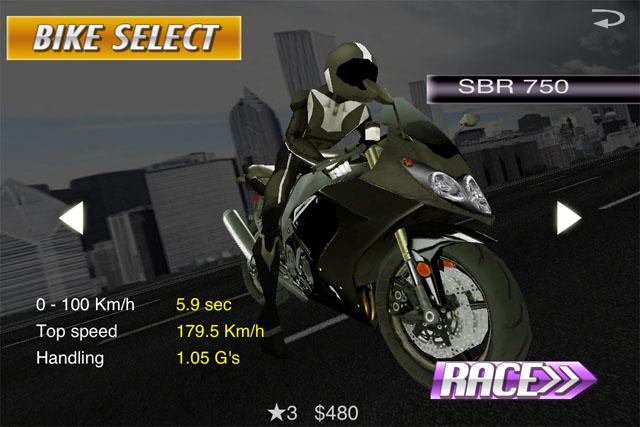 Гонки на мотоциклах для iPhone