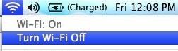 Отключение Wi-Fi