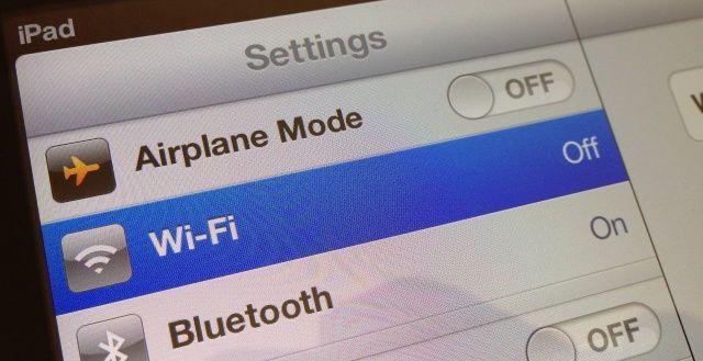 Выключенный Wi-Fi в iOS 6