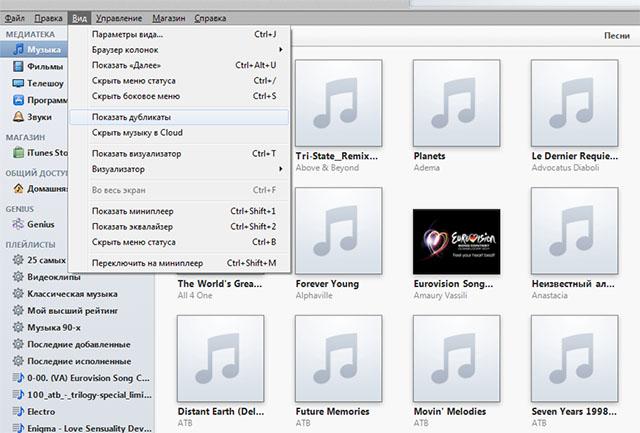 Как найти дубликаты песен в iTunes