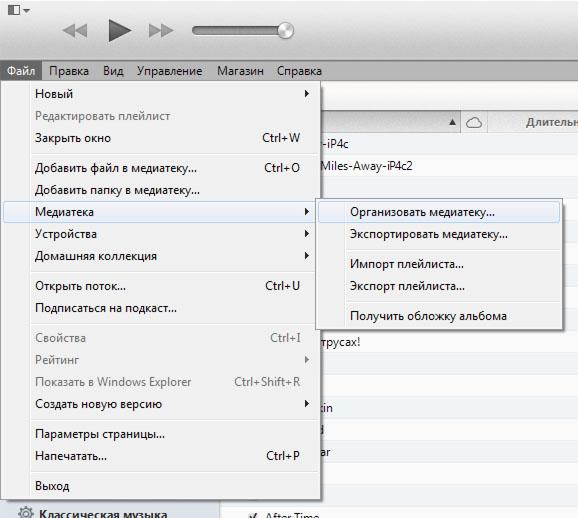 Организация медиатеки в iTunes