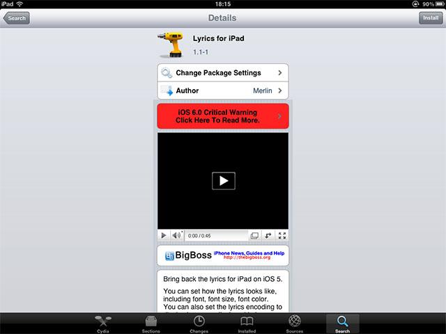 Lyrics for iPad