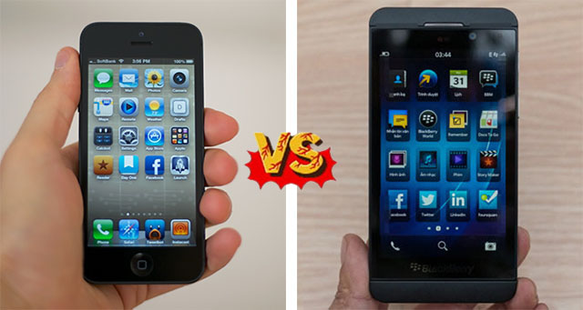 iPhone 5 vs BlackBerry Z10