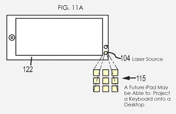 Лазерная клавиатура в iPhone