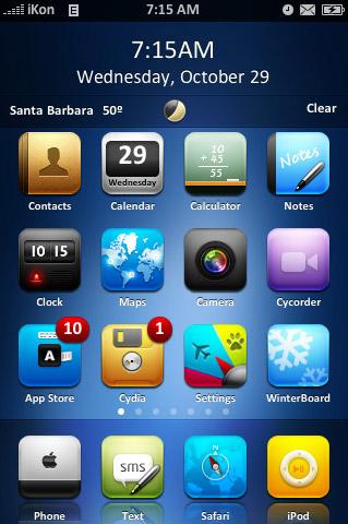 Интерфейс в iOS 7