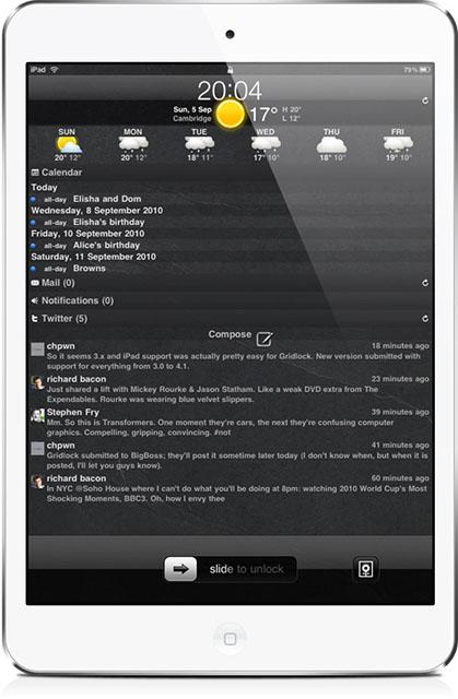 Продвинутый локскрин для iPhone и iPad
