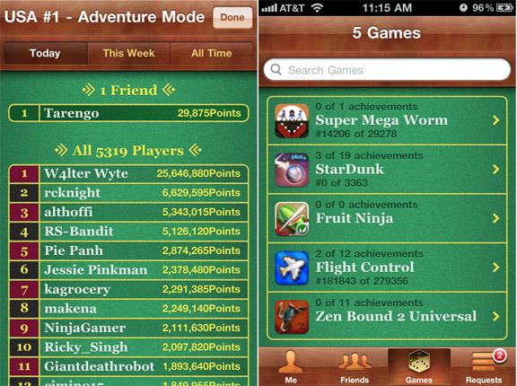 Game Center в iOS 7