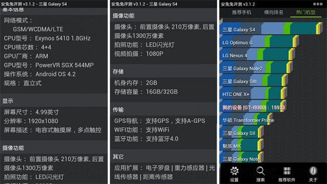 Характеристики Samsung Galaxy S 4