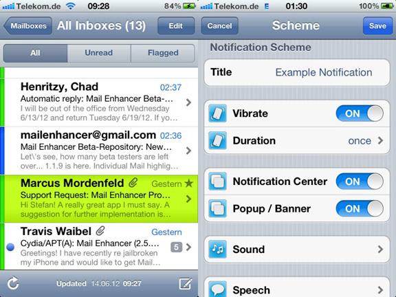 Mail Enhancer Pro iOS 6