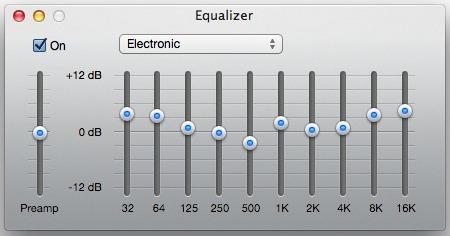 Настраиваем Эквалайзер в iTunes
