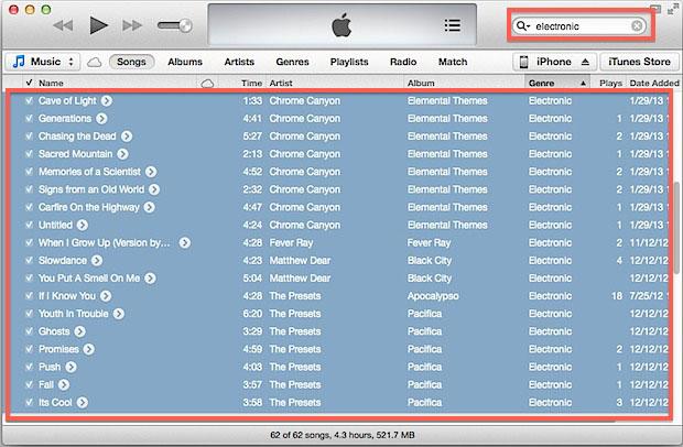 Настройка эквалайзера в iTunes по жанрам