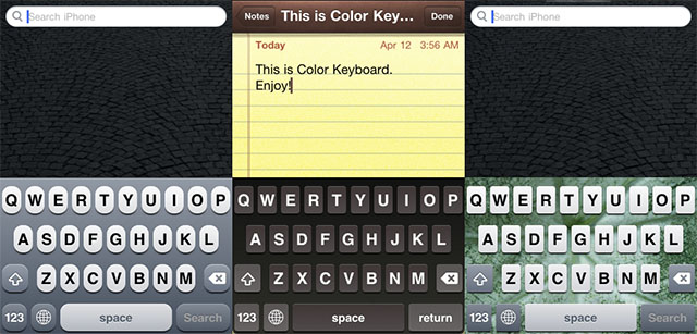 Цветная клавиатура в iOS