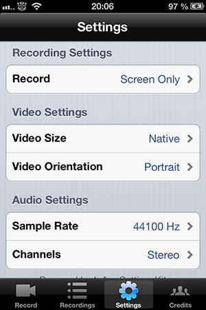 Захват видео с iPad