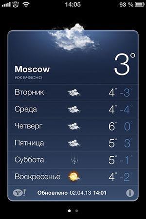 Улучшение для иконки приложения Погода