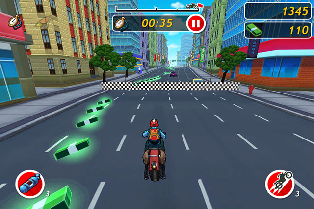 Racing с элементами Runner для iPhone