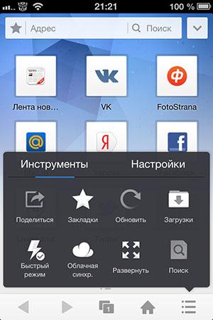 Функциональный браузер для iPhone