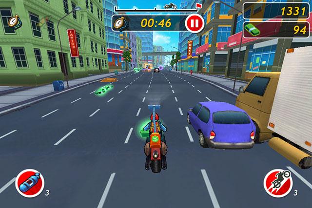 Racing с элементами Runner для iPad
