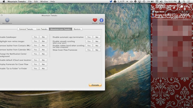 Changing Notification Center's background with Mountain Tweaks