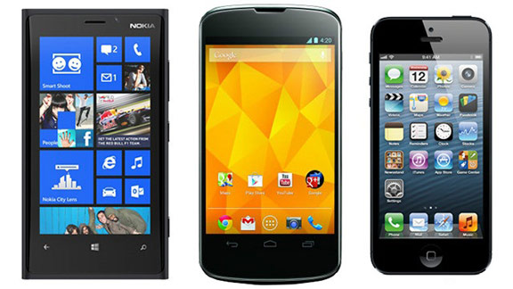 Android, iOS, WP