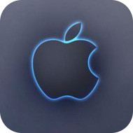 Apple neon icon