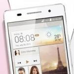 Huawei Ascend P6 — тонкий смартфон в алюминиевом корпусе