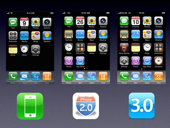iOS 1, 2 и 3