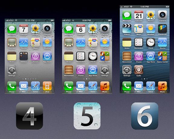 iOS 4, 5 и 6
