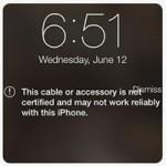 Новая iOS ругается на китайские кабели Lightning