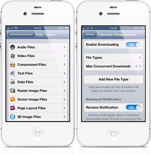 Скачивание файлов из браузера в iPhone