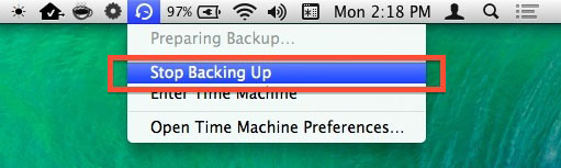Как отложить создание резервной копии в Time Machine
