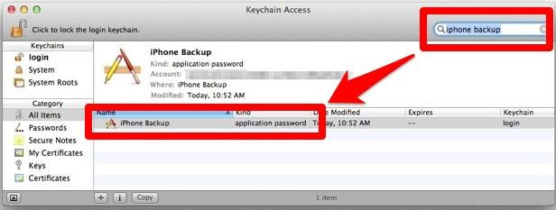 Восстановление пароля от резервной копии iPhone