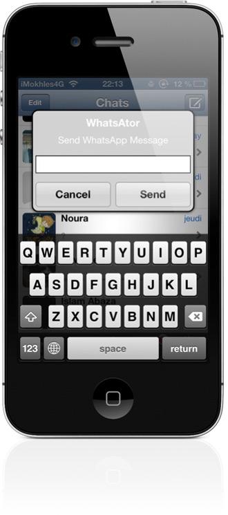 Отправка WhatsApp-сообщений из любого места в iOS
