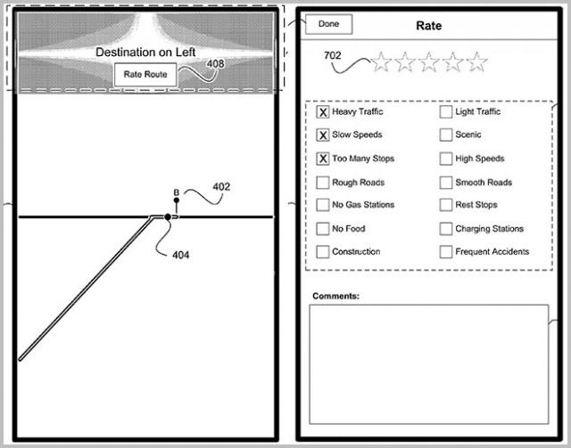 Патент на навигационный сервис