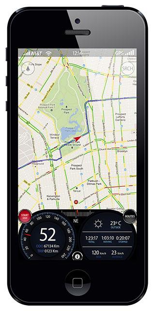 Навигационное приложение для iPhone