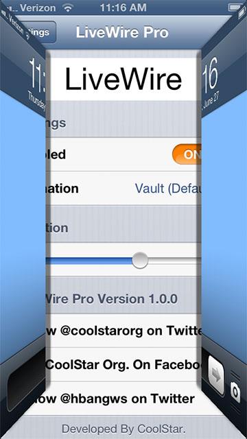 Анимация для экрана блокировки iPhone