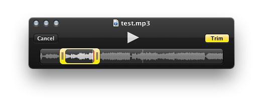Обрезаем аудио в поомщью QuickTime Player