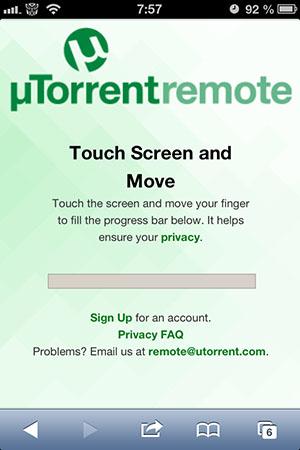 Управление uTorrent-загрузками с iPhone