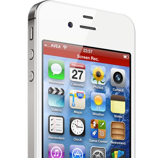 Видеозахват изображения с экрана iPhone