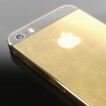 Как выглядит iPhone 5S в золотом цвете