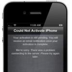 Новые проблемы Apple. Перебои в работе сервера активации