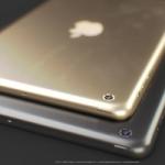Концепт золотистого iPad mini с датчиком отпечатков