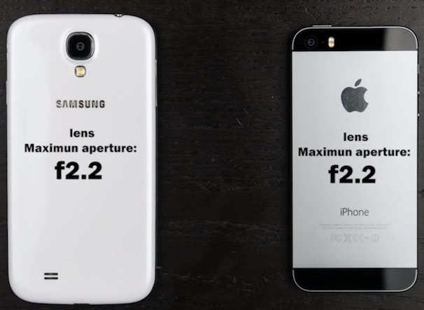 Основные камеры iPhone 5S и Samsung Galaxy S4