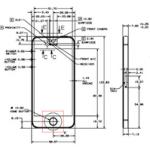 Apple опубликовала чертежи iPhone 5s и iPhone 5c
