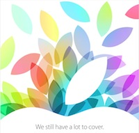 Apple ipad event 2013