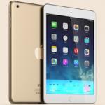 Концепты iPad mini 2 в золотом и голубом цвете