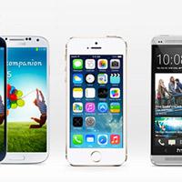 iPhone 5S, HTC One и Samsung Galaxy S4