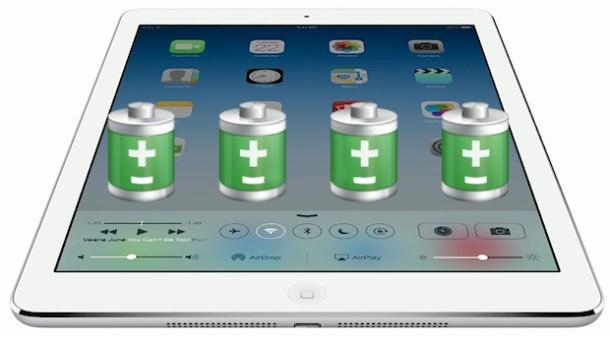 Способы увеличить время работы планшета на iOS
